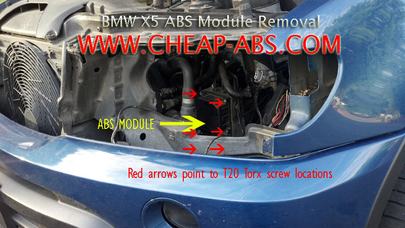 BMW X5 ABS Module Removal